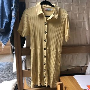 NWOT Free People Button Down Dress